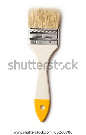 Paint brush isolated on the white background