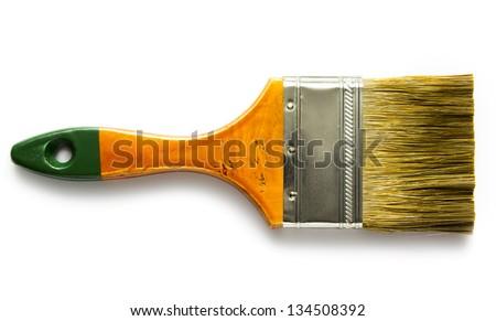Paint brush isolated on white - stock photo