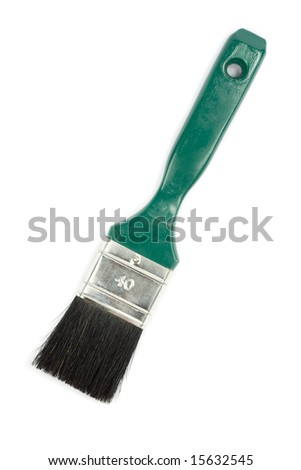 Paint brush. Isolated on white