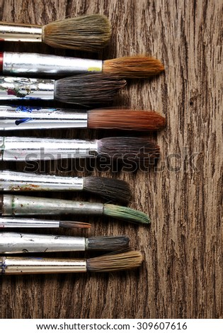 Paint brushes used