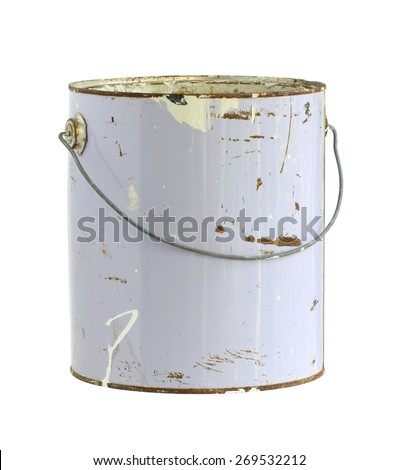 Paint can (with clipping path) isolated on white background - stock photo