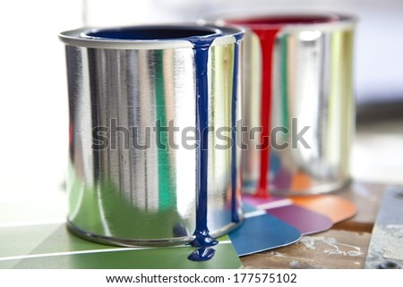 Paint Cans - stock photo