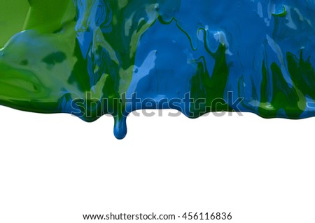 Paint dripping - stock photo