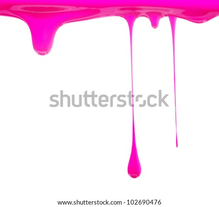 Paint dripping in pink