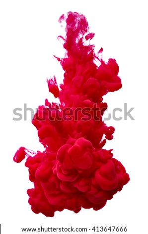 paint in water - stock photo