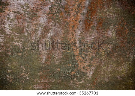 Paint on metal - stock photo
