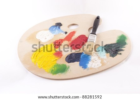 Paint Palate - stock photo