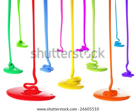 Paint pouring - stock photo