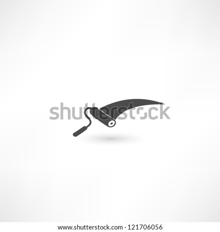 Paint roller icon - stock photo