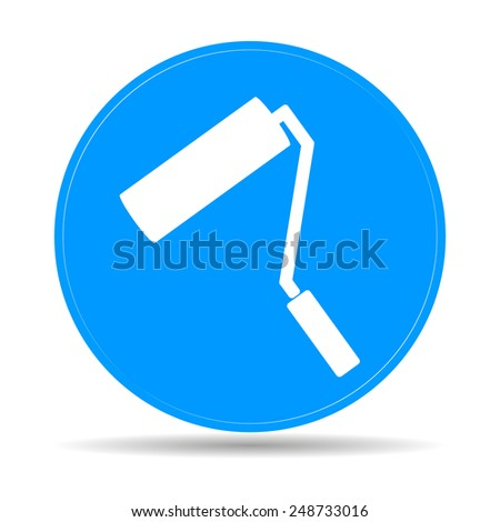 Paint roller icon. Flat  - stock photo