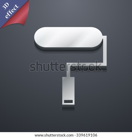Paint roller icon symbol. 3D style. Trendy, modern design with space for your text illustration. Rastrized copy - stock photo