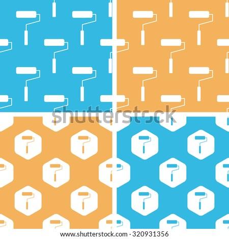 Paint roller pattern set. Paint roller pattern set art. Paint roller pattern set web. Paint roller pattern set new. Paint roller pattern set www. Paint roller pattern set app - stock photo