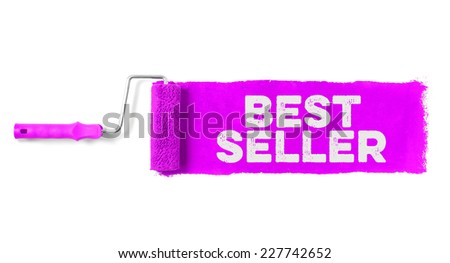 Paint roller showing best seller - stock photo