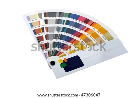 paint samples isolated - stock photo
