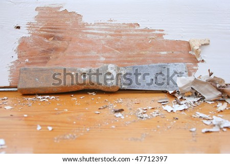 Paint scraper tool. - stock photo