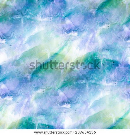 paint splash ink stain green, violet watercolour blob spot brush watercolor abstract background texture seamless sunlight - stock photo