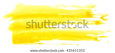 Paint strokes isolated on white background
