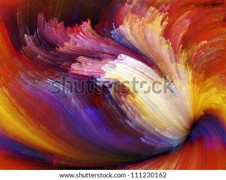 Paint Swirls Series. Artistic background made of streaks of digital color for use with projects on art, design and creativity