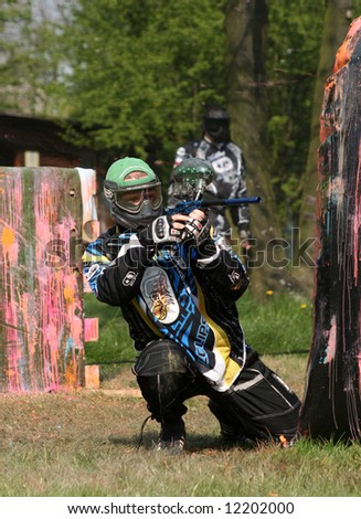 Paintball Competition in Lublin (Poland). April 2008