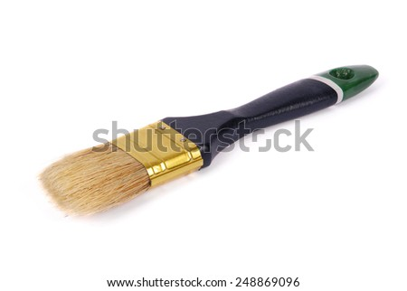 Paintbrush isolated on white. Clipping path included. - stock photo