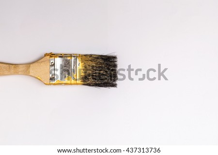 Paintbrush on white background - stock photo