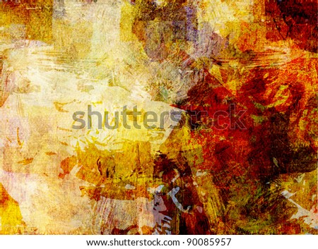 painted abstract background - stock photo