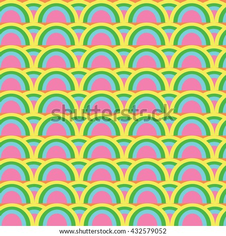 Painted Abstract Flower Seamless Pattern - stock photo