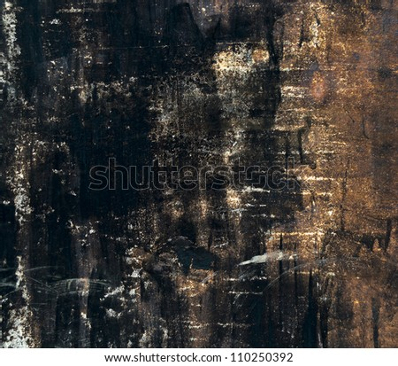 Painted and scratched rusty metal texture - stock photo