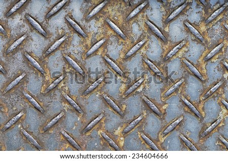 Painted and unpaintedl checkered steel plates / Checkered plate / anti slipway, factory and construction uses - stock photo