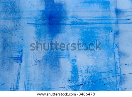 Painted blue background, painting was created by photographer
