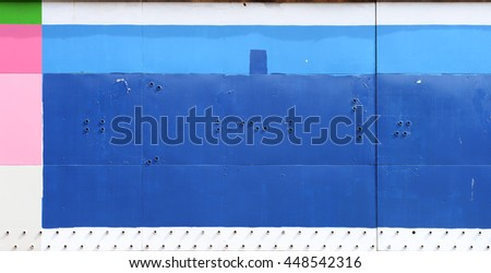 painted blue storefront sign background - stock photo