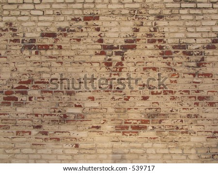 painted brick wall - stock photo