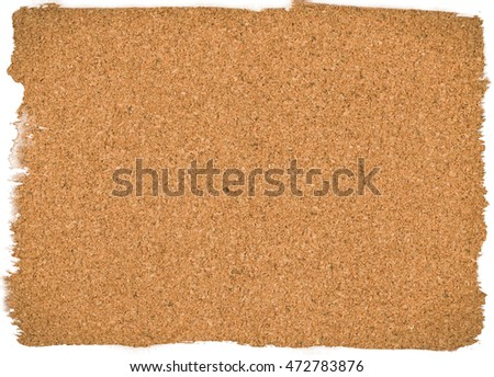 Painted brown vintage cork board texture background. Empty bulletin Board