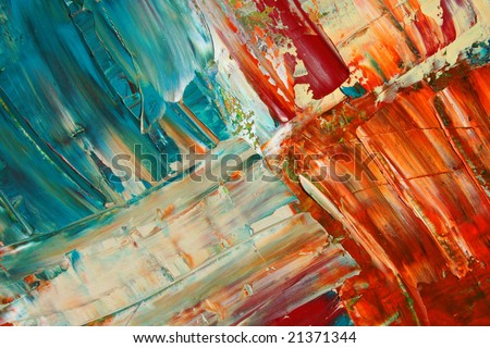 Painted canvas as background. Art is painted by photographer. - stock photo