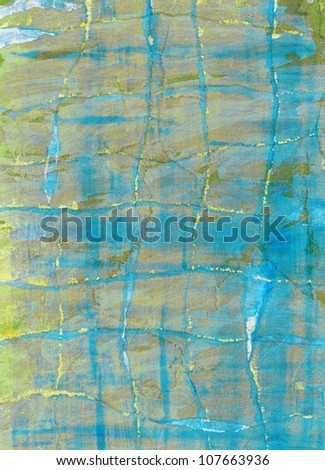 Painted collage, grunge paper texture - stock photo