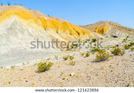 painted desert hill in Big Bend National Park - stock photo