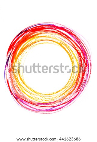 Painted design element. Colorful watercolor. Abstract hand painted backgrounds. - stock photo