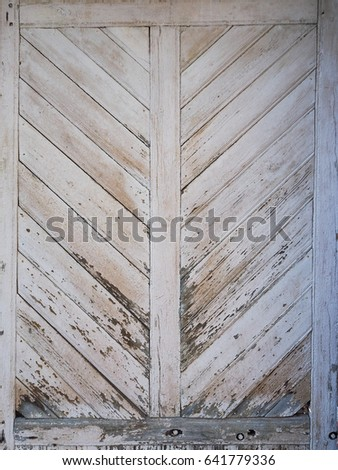Background Texture Rustic Wooden Door Diagonal Stock Photo