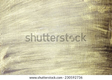 Painted Gold on metal texture for background - stock photo