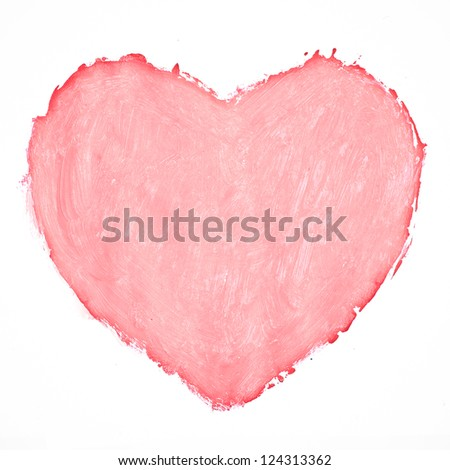 Painted heart - stock photo