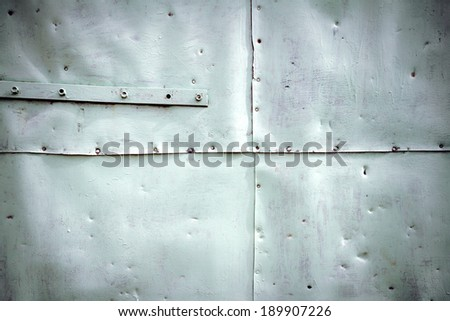 Painted in white grunge metal tin texture - stock photo