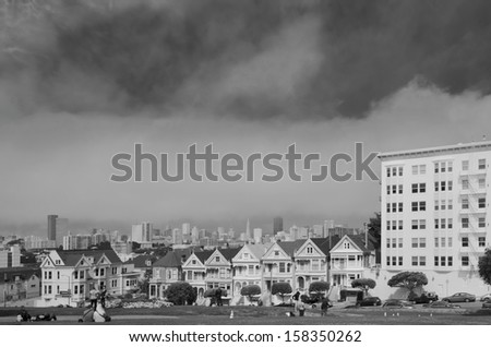 Painted Ladies of San Francisco - stock photo