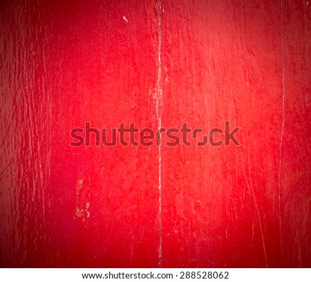 Painted old wooden wall. red background
