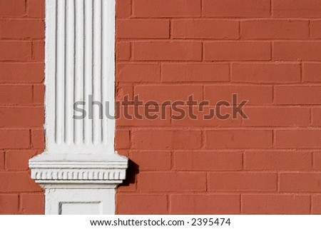 Painted Red Brick