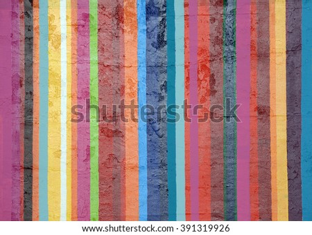 painted stripes on concrete - stock photo
