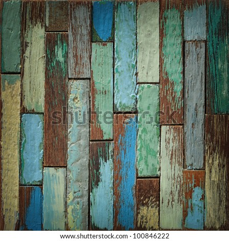 Painted wood wall - stock photo