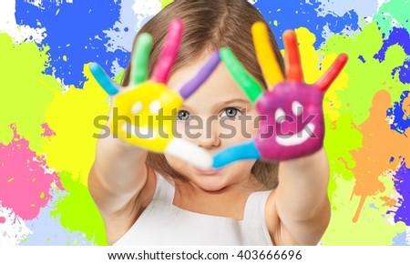 Painter. - stock photo