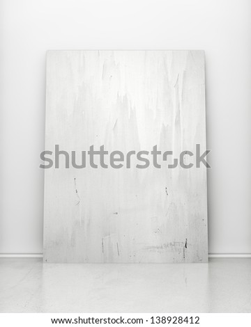 painter poster on white wall - stock photo