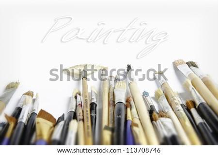 painting art - stock photo