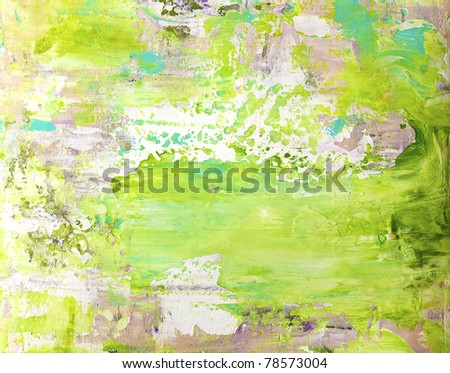 painting, artwork is created and painted by myself - stock photo